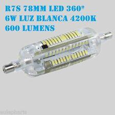 Bombilla Lineal R7s Led 6w 78mm Luz Blanca 4200k, 360º 600 Lumen Bajo Consumo