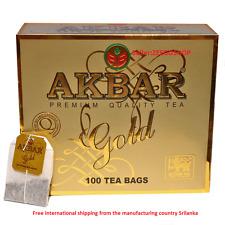 Akbar pure ceylon black Tea Bags 100 tea bags- 200g ceylon  Black Tea