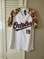 BALTIMORE ORIOLES #19 MARYLAND FLAG SGA BASEBALL JERSEY- M CHRIS DAVIS NEW TAGS