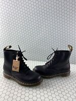 Dr. Martens 1460 Black Smooth Leather Lace Up Ankle Boots Mens Size 7  Women's 8