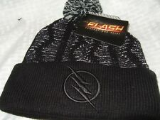 New Adult Black DC Comics The Flash Zoom Hero Reflective Pom Beanie Cap Ski Hat