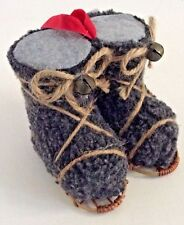 NEW Pottery Barn SNOWSHOE Sherpa Boot Ornament CHRISTMAS Winter Sports Vintage