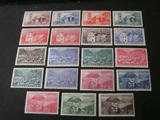 ANDORRA, FRENCH ADMINISTRATION, SCOTT # 85-93(9)+95-104,1944-47 PICTORIAL MNH