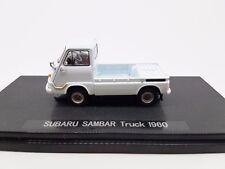 Rare! 1/43 Scale Die-Cast Model, Ebbro Subaru Sambar Truck 1960 Light Blue 43993