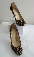 094761b69b85 Coach Women's Giovanna Stylish Slight Platform Hairculf Pump Heel, Leopard,  ...