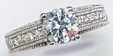 1.5 ct Artisan Carved Ring Top Russian QualityCZ Imitation Moissanite Simulant 8