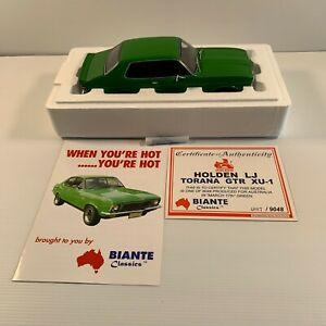 Biante 1:18 70181 Holden Torana GTR XU1 March 17th Green