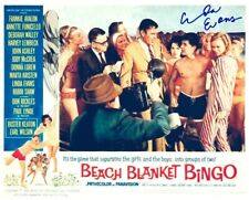 LINDA EVANS signed BEACH BLANKET BINGO 8x10 w/ coa FRANKIE & ANNETTE GROUP SHOT