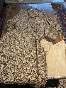 Silk 3 Piece Set Size 14 L. K. BENNETT SKIRT BLOUSE CAMISOLE Suit Print Animal