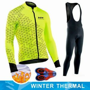 Northwave 2019 Winter thermal fleece Set Cycling Clothes NW men's Jersey suit