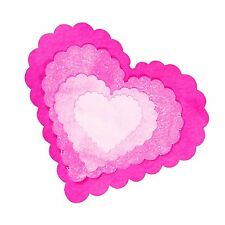 Sizzix Framelits Scallop Heart set #657562 Retail $19.99 5 perfect HEARTS!