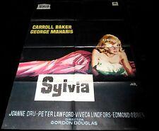 1965 Sylvia ORIGINAL SPAIN POSTER Carroll Baker Gordon Douglas