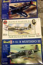 REVELL - 1/72 - P-51B - MUSTANG III KIT & P-47 Thunderbolt & P51B Mustang All-3