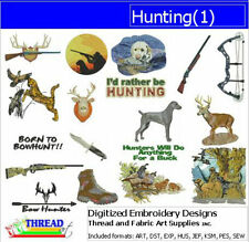 Embroidery Design CD - Hunting(1) - 18 Designs - 9 Formats - Threadart