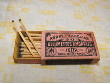 Ancienne boite d'allumettes Amorphes Régie Française SEITA 80c circa 1930