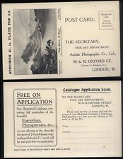 1920's ARTISTIC PHOTOGRAPHIC CO London, illustrated return reply Postcard