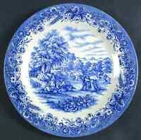 Churchill CURRIER & IVES-BLUE Dinner Plate 50021
