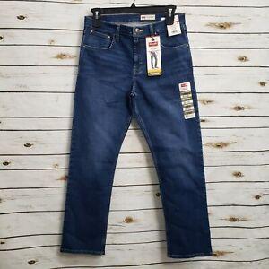 New Wrangler Mens Blue Jeans Medium Wash 32x30 Pockets Stretch Slim Comfort
