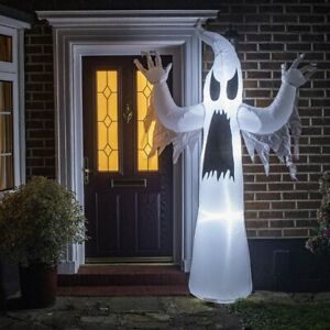 Halloween Inflatable Ghost Decoration - 2.4m (7ft 11) - Mains Powered