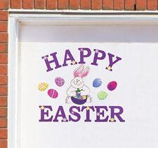 Easter Bunny Rabbit Outdoor Decoration Happy Garage Door Magnet Set NEW