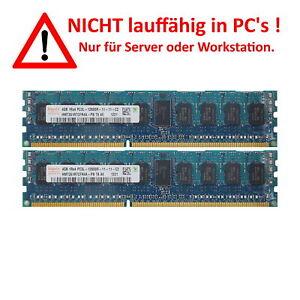 Hynix 8GB 2x4GB Kit 1Rx4 PC3L-12800R-11-11-C2 HMT351R7CFR4A-PB T8 AE DDR3 ECC