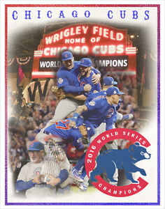 Chicago Cubs 2016 World Series - poster print