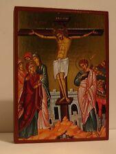 Icona Crocifissione Gesù Crucifixion ICON ICONE crocifissione икона ICONO stavrosi