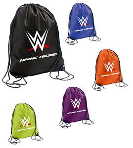 Personalised Boy Girl Wrestling Waterproof Sports Gym School Drawstring Bag