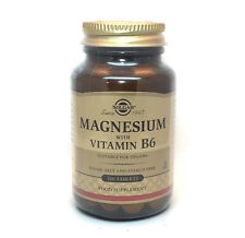 Solgar Magnesium with Vitamin B6 Tablets - 100 Tablet Bottles