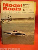 MODEL BOATS NOVEMBER 1972 LINER ORCADES SS GRANGEMOUTH HURON III BOFERS GUN