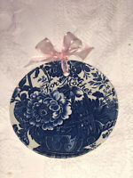 Blue White Royal Crownford Plate Staffordshire England Ironstone FOR MOTHER