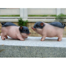Realistic Mini Pig Animals Resin Craft Ornaments Handcraft Home Garden Decor