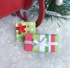 """Dollhouse Miniature Christmas Present Holiday Gifts 1"""" Scale 1:12 Dot & Stripe"""
