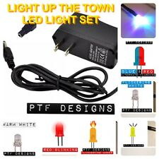 LIGHT UP THE TOWN! Complete 20 LED Set w/ Transformer, Lighting Fot Layouts USA