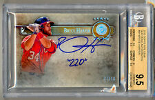 "2013 Topps Five Star Quotable Autographs BRYCE HARPER ""220"" Auto 7/10 BGS 9.5/10"