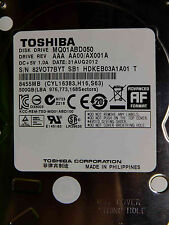 500 GB Toshiba  MQ01ABF050 AAA AA00/AX001A 31AUG2012 HDKEB03A101 T disco rigido