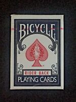 Sealed Deck Bicycle Playing Cards Rider Back Poker 808 Air-Cushion Finish Blue