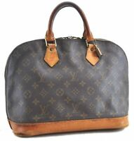 Authentic Louis Vuitton Monogram Alma Hand Bag M51130 LV B7413