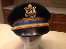 United States Military Hat Cap Army Officer Wool Visor Flight Ace Size 7 3/8