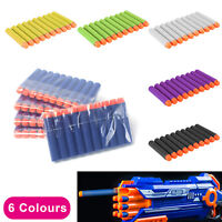 10pcs Nerf Gun Soft Refill Bullets Darts Round Head Blasters For N-Strike Toy UK