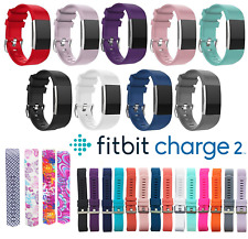 Fitbit Charge 2 Replacement Band Secure Strap *UK* Wristband Metal Buckle HR