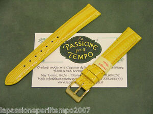 Watch Strap Band Stejus Stamp Yellow Sports For Watches Chrono New
