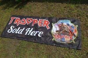 Iron Maiden Trooper 2013 Beer Banner LARGE Official Robinsons Brewery Man Cave
