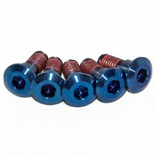 5x Suzuki Gsxr750 K6 K7 K8 Blue Titanium Rear Disc Rotor Bolts With Threadlock