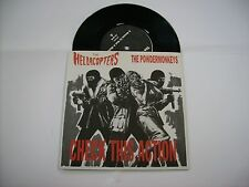 "HELLACOPTERS/POWDERMONKEYS - CHECK THIS ACTION - RARE 7"" BLACK VINYL 1999"