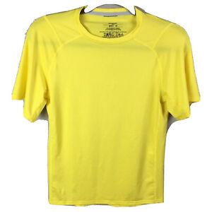 Patagonia Extra Small Yellow Base Layer Short Sleeve Shirt Capilene 1 Silkweight