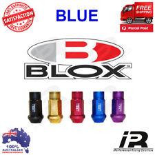 BLUE M12x1.25 Blox Forged 7075 Aluminum Lug Nuts  For WRX/STI,EVO,HONDA,S14,S15