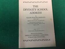 The Divinity School address American Unitarian Association 23rd printing 1944