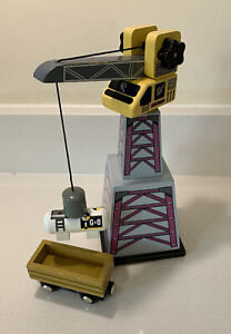 Wooden Train Track Set Crane With Magnetic Cargo Bundle Brio Thomas Etc Carriage