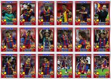 FC Barcelona European Champions League winners 2011 football trading cards
